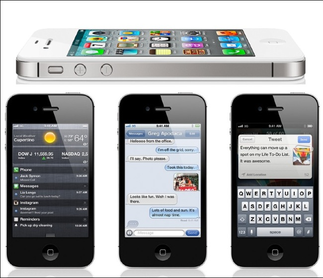 Apple iphone 4s 16/32/64gb black/white neverlocked sigilat